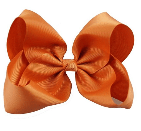 "8"" Fall Orange Hair Bow w/clip - Little Miss Marmalade"