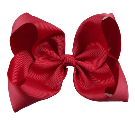"8"" Red Hair Bow w/clip - Little Miss Marmalade"