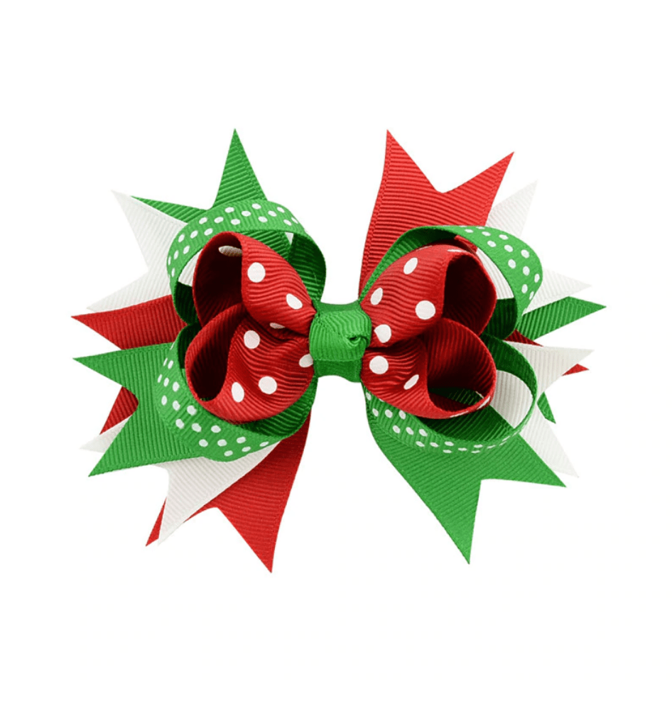 "Christmas Bow w/ clip  3.5"" - Little Miss Marmalade"