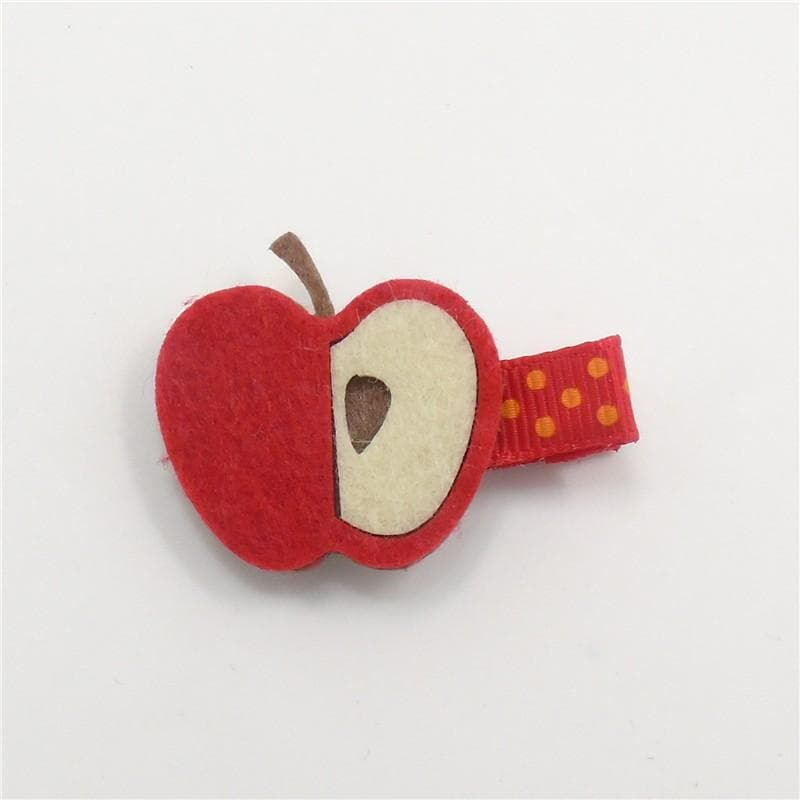 Fall Apple Hair Clip - Little Miss Marmalade