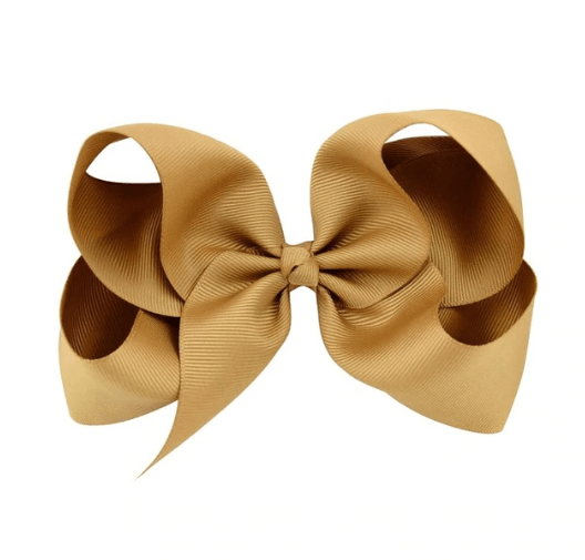"Gold Bow 6"" Non Metallic - Little Miss Marmalade"