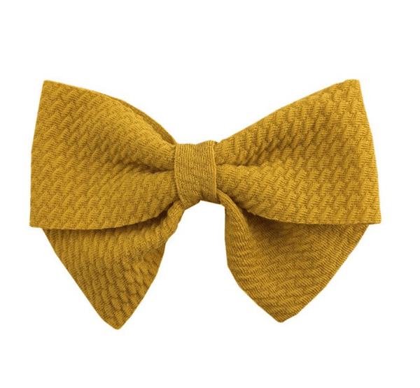 "Gold Yellow Hair Bow 3"" - Little Miss Marmalade"