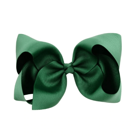 "Hair Bow Christmas Green 6"" inch - Little Miss Marmalade"