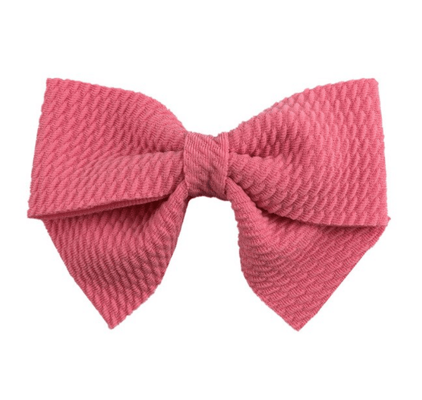 "Mauve Pink Hair Bow 3"" - Little Miss Marmalade"