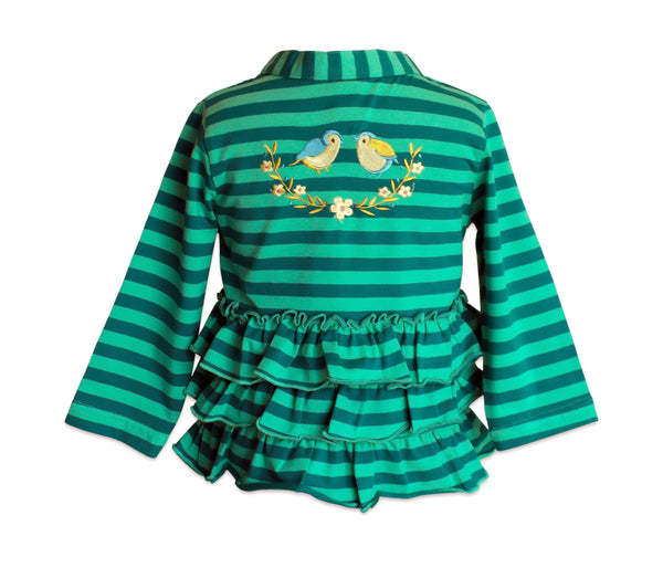 Meadow Ruffled Cardigan - Little Miss Marmalade