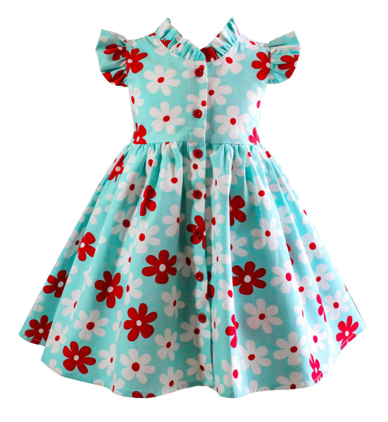 American Flowers Glen Park Dress - Little Miss Marmalade