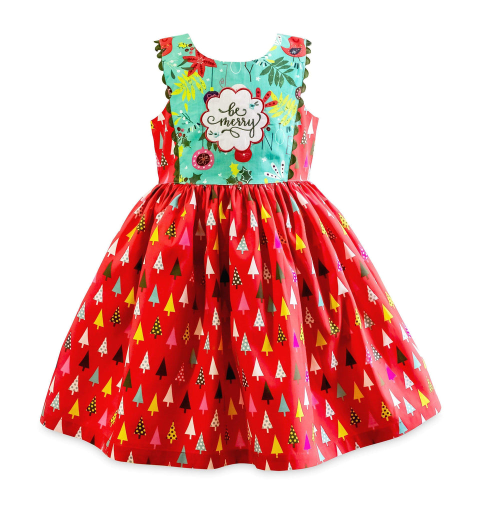 Be Merry Larkin St. Dress - Little Miss Marmalade