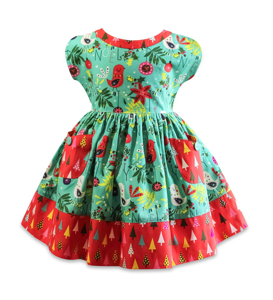 Be Merry Picnic Dress - Little Miss Marmalade