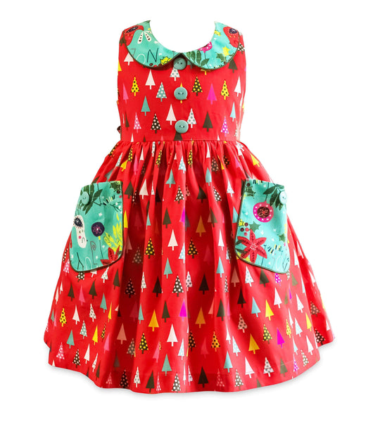 "Girls Dress - Be Merry Poppy Lane Dress - ""Pre Sale"""