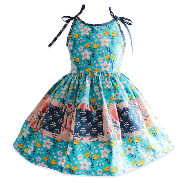 Blue Bird Church Street Dress - Little Miss Marmalade