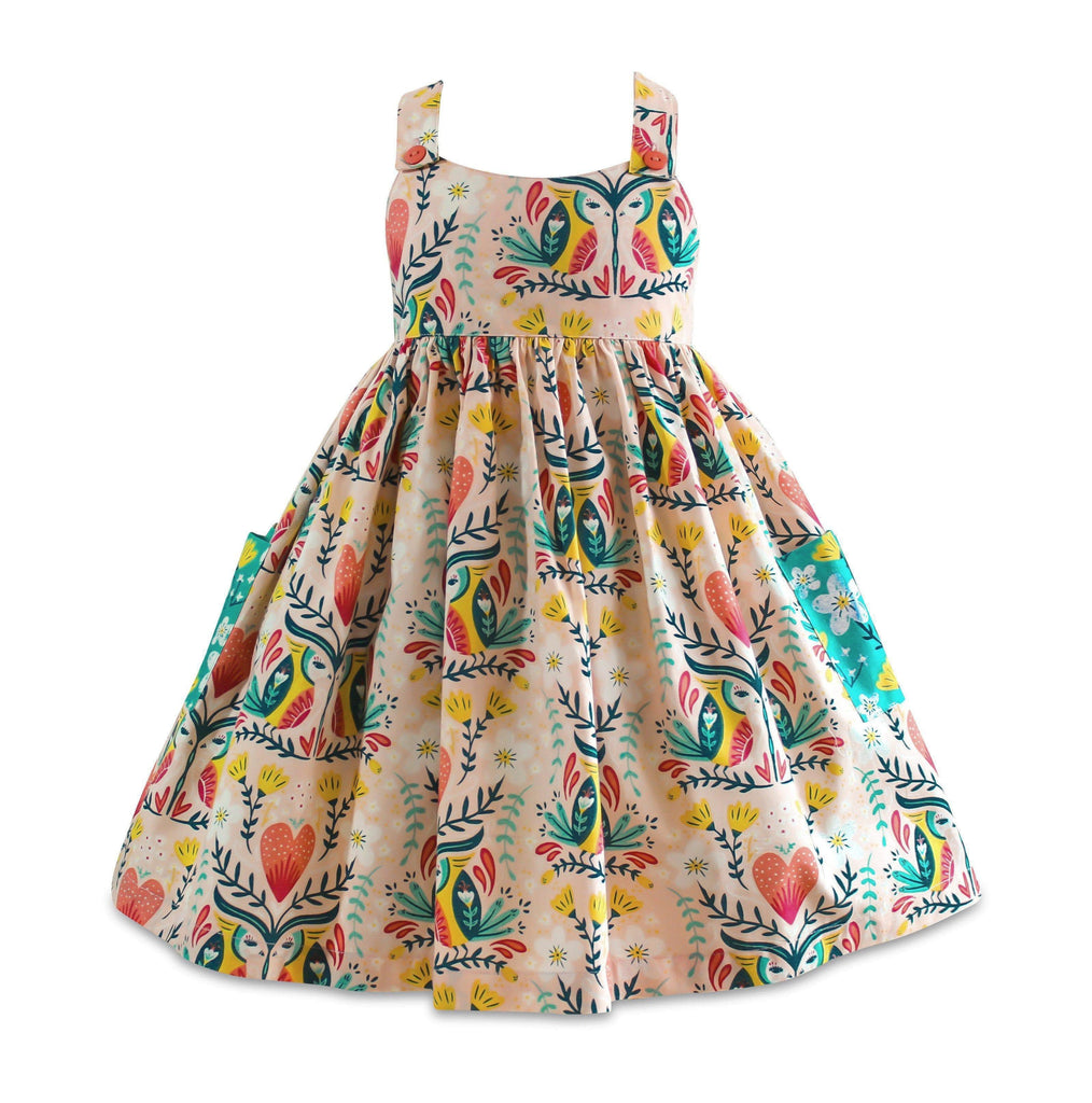Blue Bird Marga Sun Dress - Little Miss Marmalade
