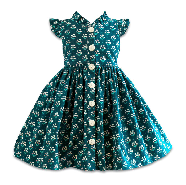 Blue Bird Navy Glen Park Dress - Little Miss Marmalade