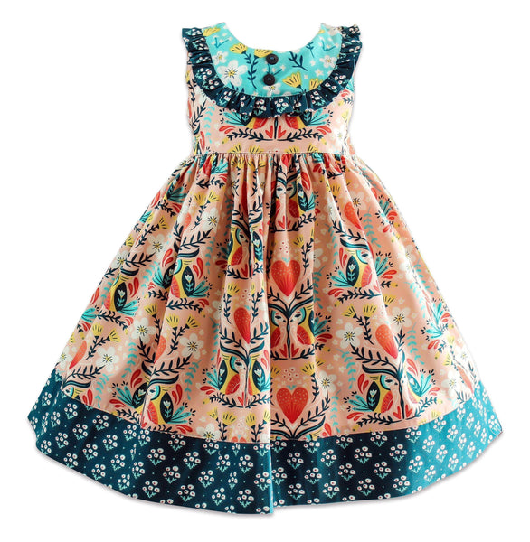 Blue Bird Sunday Vintage Dress - Little Miss Marmalade