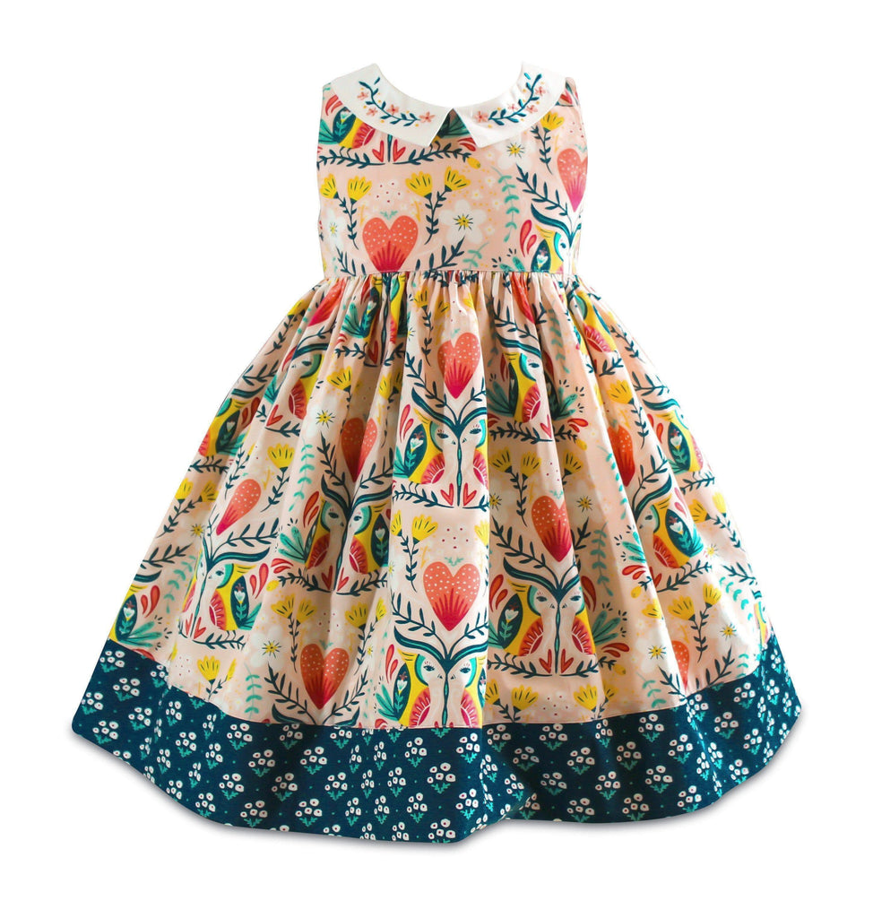 Blue Bird Vintage Lombard Dress - Little Miss Marmalade