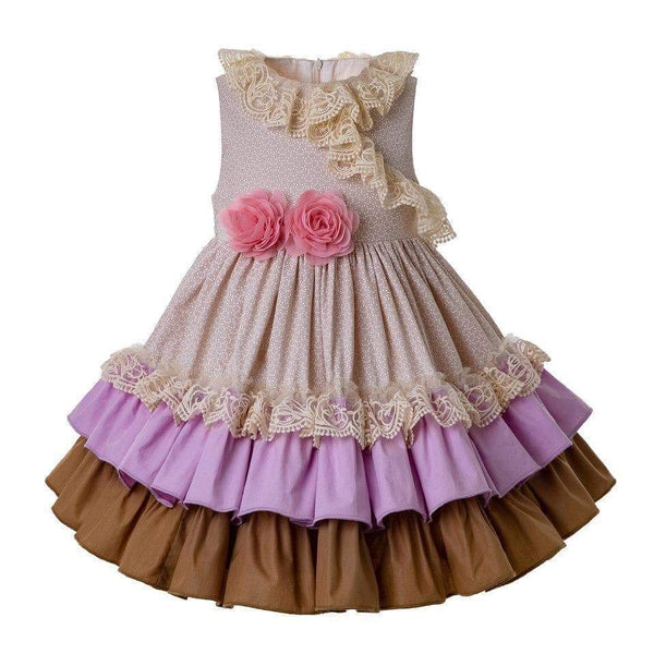 Lavender Autumn Ruffle Dress - Little Miss Marmalade