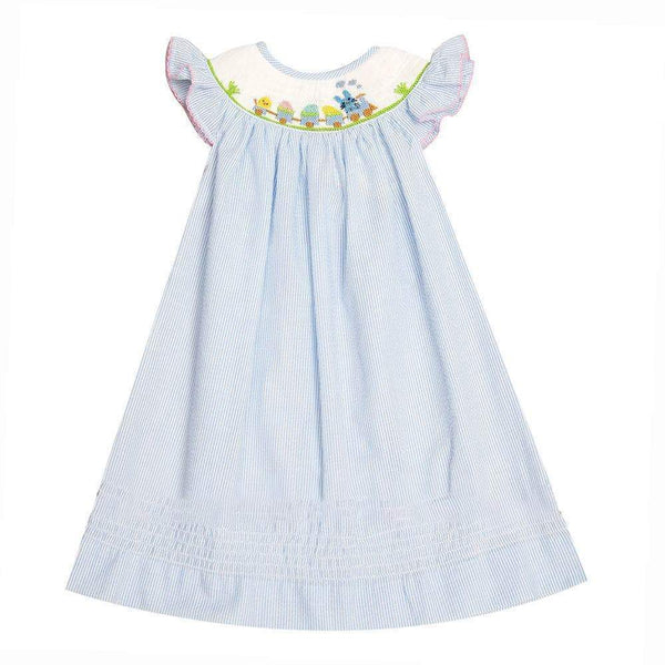 Easter Blue Bunny Dress - Little Miss Marmalade