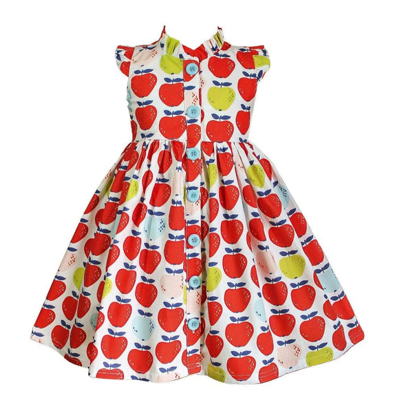 Fall Apple Glen Park Dress - Little Miss Marmalade