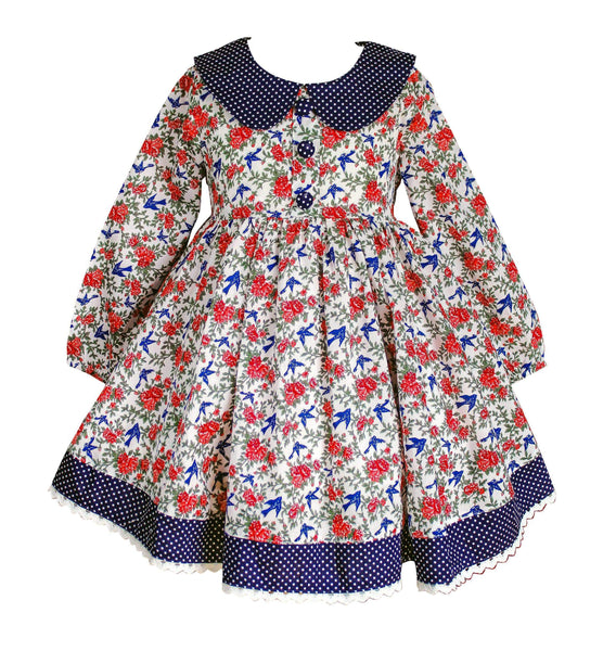 Fall Beale St Sparrow Dress - Little Miss Marmalade