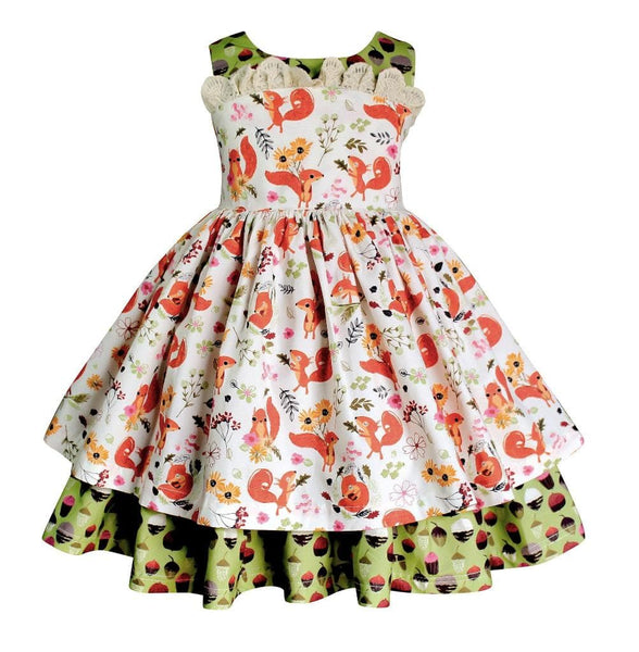 "Fall ""Cheeks the Squirrel"" Wilder Dress - Little Miss Marmalade"