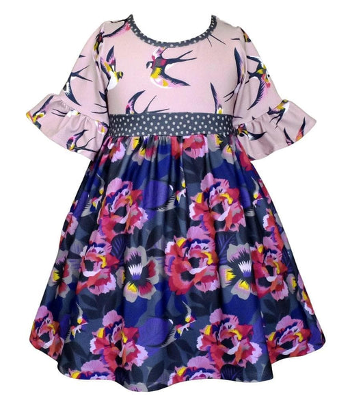 Fall Lilac Garden Millie Dress - Little Miss Marmalade