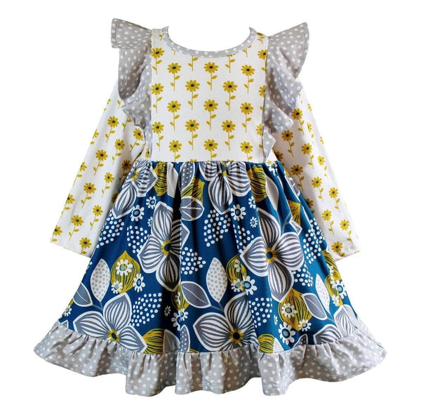 Girls Dress - Fall Sunflower Dilly Dress