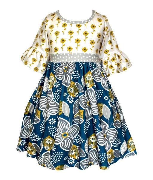 Fall Sunflower Millie Dress - Little Miss Marmalade