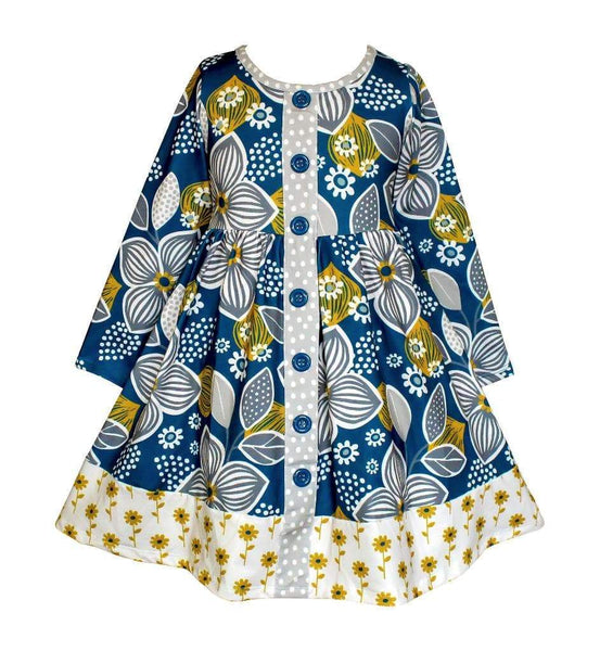 Girls Dress - Fall Sunflower Parkside Dress