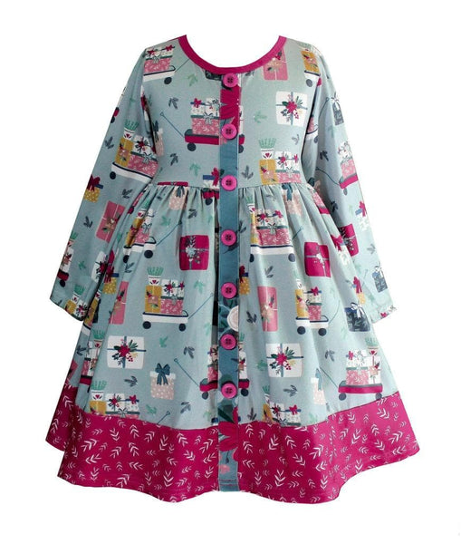 Farm House Holiday Parkside Dress - Little Miss Marmalade