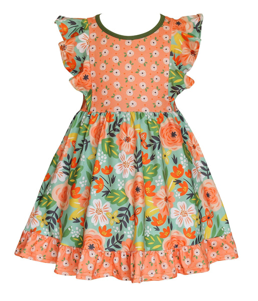 Girls Dress - Flower Bed Dilly Dress