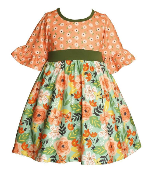 Girls Dress - Flower Bed Millie Dress