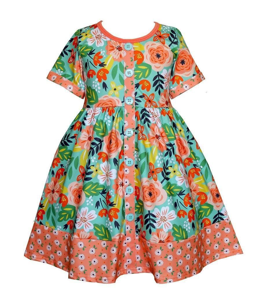 Flower Bed Parkside Dress - Little Miss Marmalade