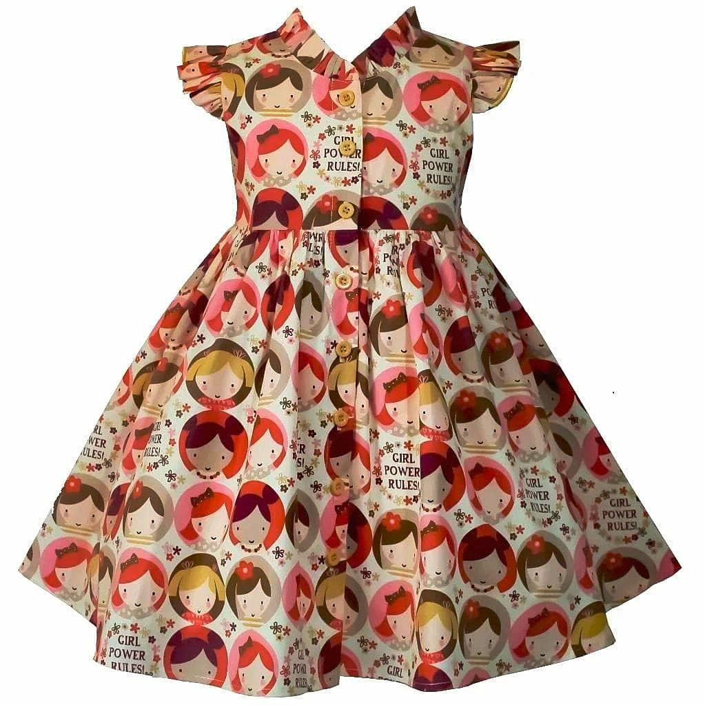 Girl Power Rules Glen Park Dress - Little Miss Marmalade