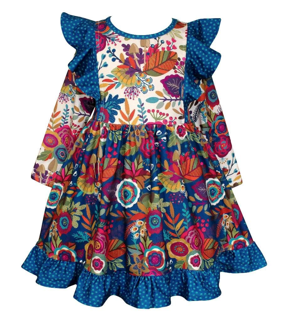 """Give Thanks"" Fall Dilly Dress - Little Miss Marmalade"