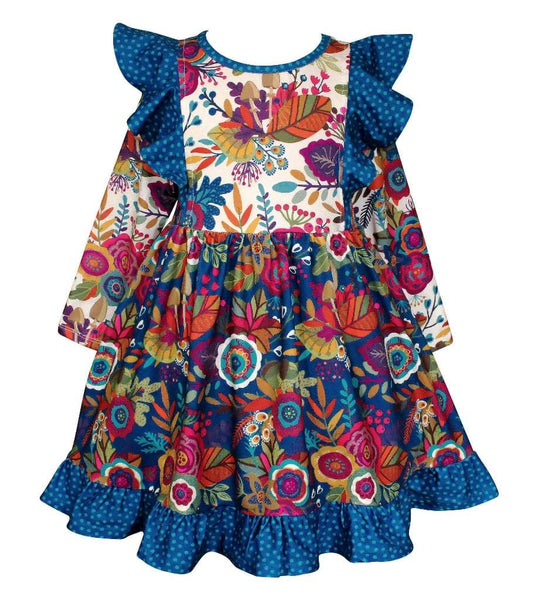 "Girls Dress - ""Give Thanks"" Fall Dilly Dress"