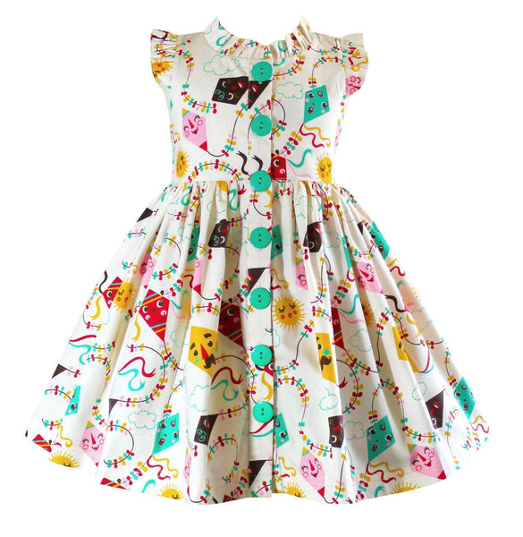 Go Fly a Kite Glen Park Vintage Kite Dress - Little Miss Marmalade