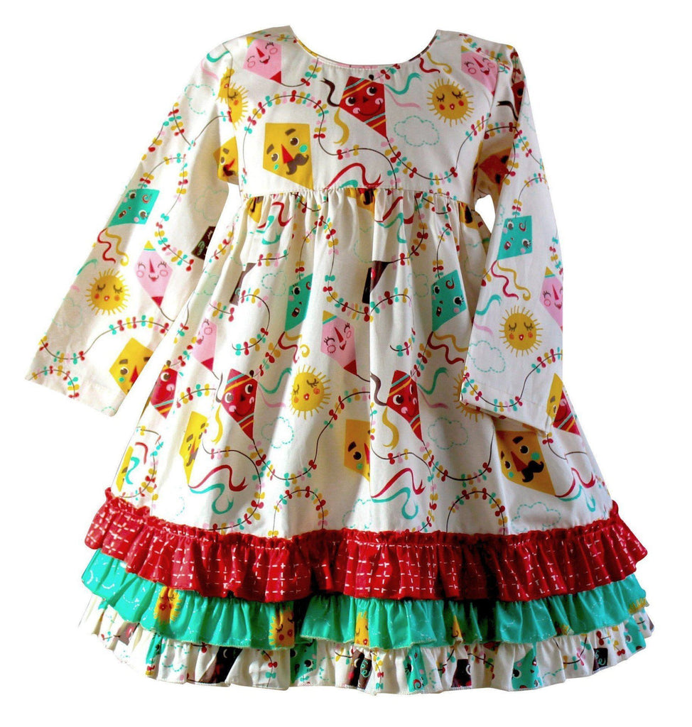 Girls Dress - Go Fly A Kite Picture Day Dress