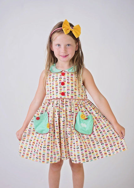 Girls Dress - Go Fly A Kite Poppy Lane Vintage Dress