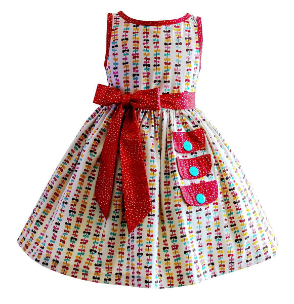Girls Dress - Go Fly A Kite Vintage Maiden Lane Dress