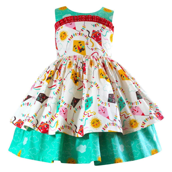 Girls Dress - Go Fly A Kite Wilder Kite Dress