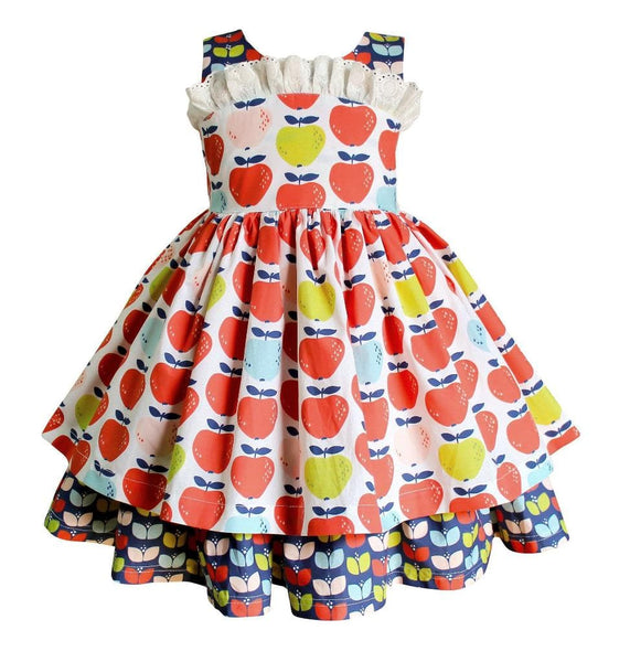 Happy Apples Fall Wilder Dress - Little Miss Marmalade