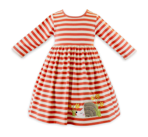 Girls Dress - Hazel The Hedgehog Ballerina Knit Dress