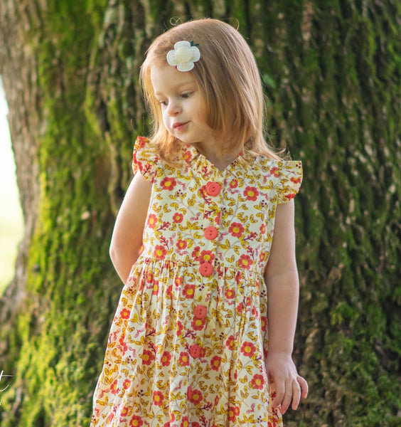 Girls Dress - Hazel The Hedgehog Flower Glen Park Dress