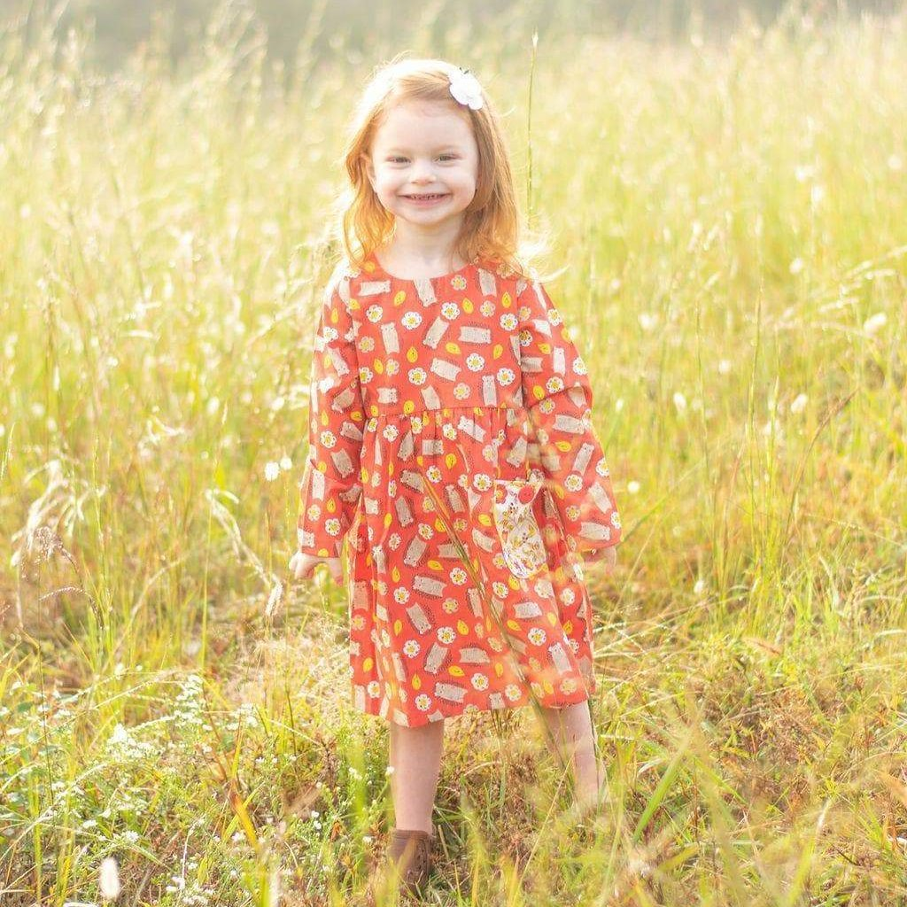 Girls Dress - Hazel The Hedgehog Katie Long Tunic Top / Dress