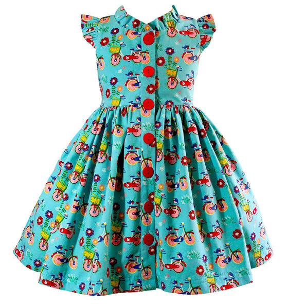 Girls Dress - Joy Ride Bicycle Glen Park Dress