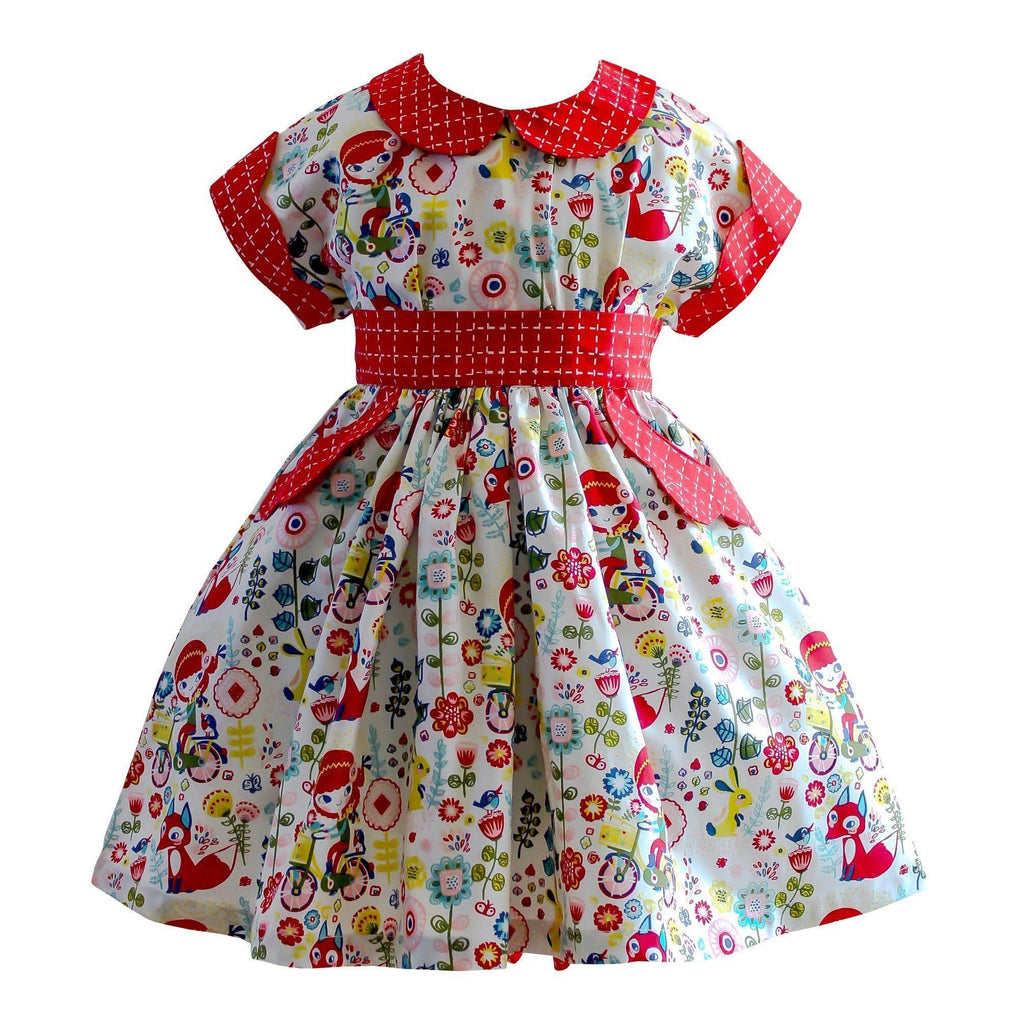 Girls Dress - Joy Ride Polk Street Retro Dress
