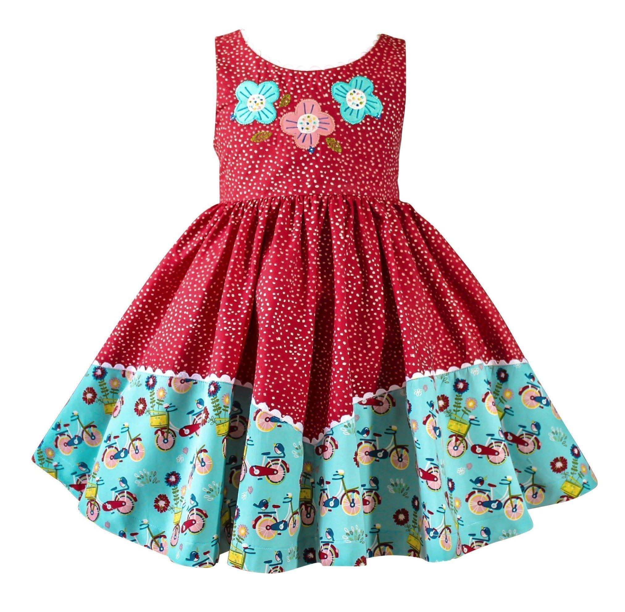 92676be8f00 Girls Dress - Joy Ride Red Dolores Park Vintage Dress · Little Miss ...