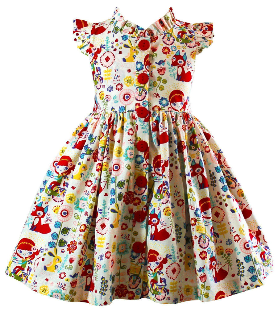 Girls Dress - Joy Ride Vintage Glen Park Dress