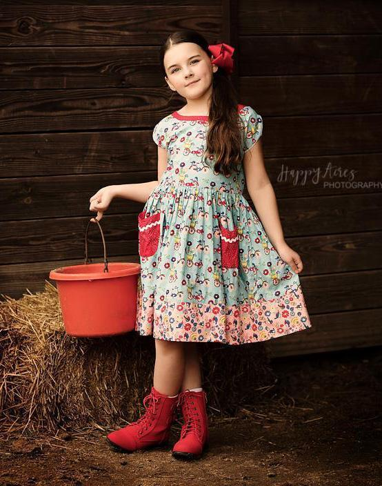 Girls Dress - Joy Ride Vintage Picnic Dress