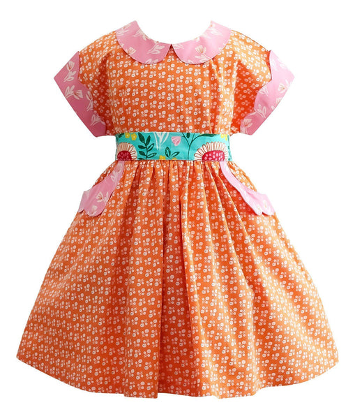Girls Dress - LillyBelle 1950's Vintage Polk Street Dress