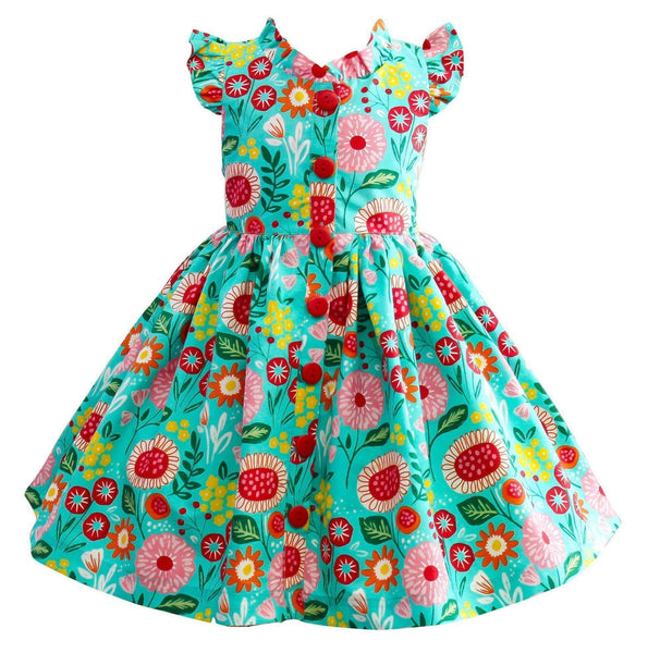Girls Dress - LillyBelle Glen Park Flower Dress